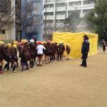 防災訓練 中津小学校